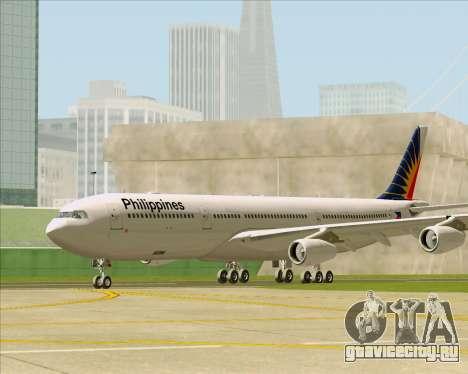 Airbus A340-313 Philippine Airlines для GTA San Andreas вид сзади слева