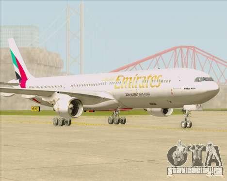 Airbus A330-300 Emirates для GTA San Andreas вид слева