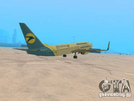 Boeing 737-84R Ukraine International Airlines для GTA San Andreas вид справа