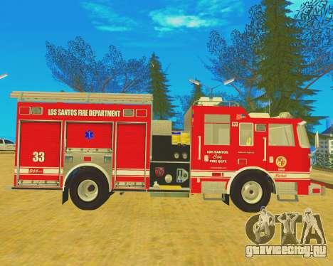 Pierce Arrow XT 2008 Los Santos Fire Department для GTA San Andreas вид слева