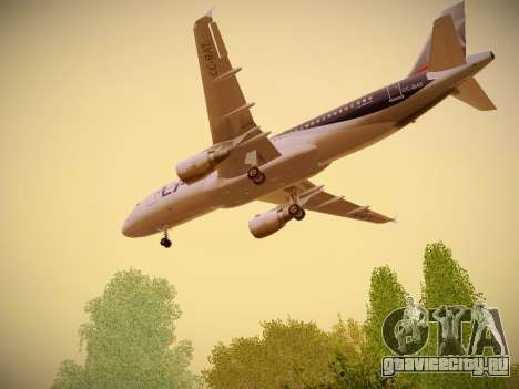 Airbus A320-214 LAN Airlines для GTA San Andreas вид изнутри