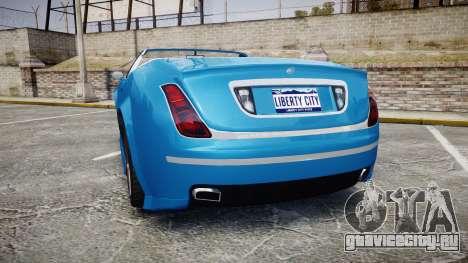 GTA V Enus Cognoscenti Cabrio для GTA 4 вид сзади слева