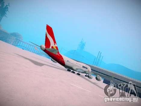 Boeing 747-438 Qantas Boxing Kangaroo для GTA San Andreas вид изнутри
