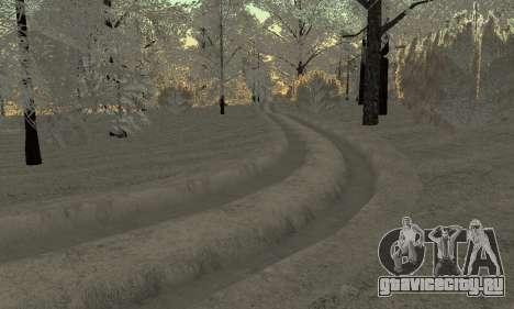 Снег для GTA Криминальная Россия beta 2 для GTA San Andreas седьмой скриншот