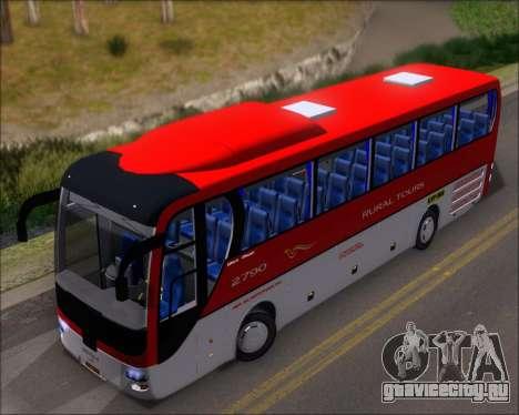MAN Lion Coach Rural Tours 2790 для GTA San Andreas вид сзади