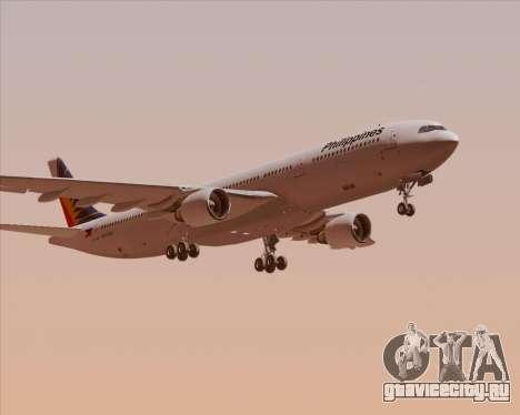 Airbus A330-300 Philippine Airlines для GTA San Andreas вид изнутри