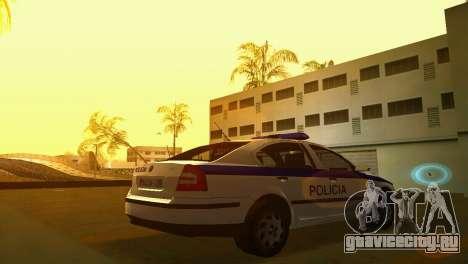 Skoda Octavia Albanian Police Car для GTA Vice City вид слева