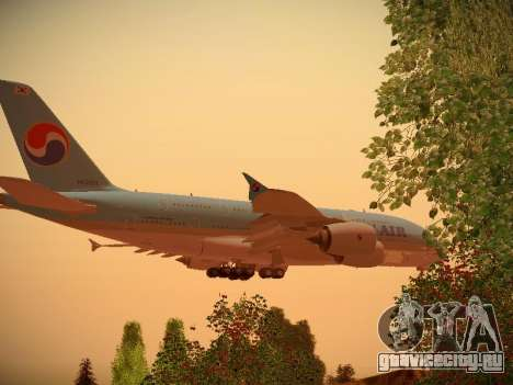 Airbus A380-800 Korean Air для GTA San Andreas вид сзади