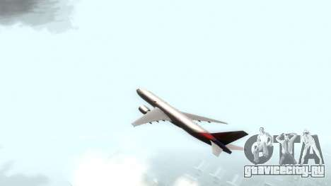 Boeing 777-280ER Asiana Airlines для GTA San Andreas вид сзади слева