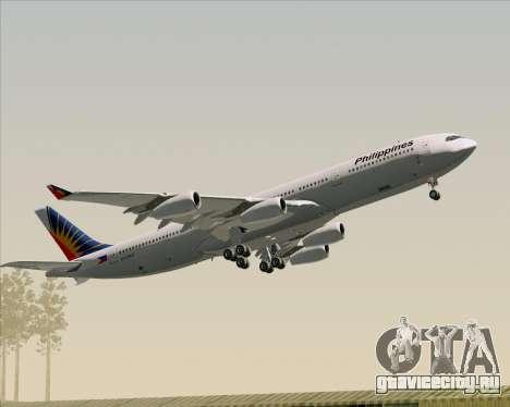 Airbus A340-313 Philippine Airlines для GTA San Andreas двигатель
