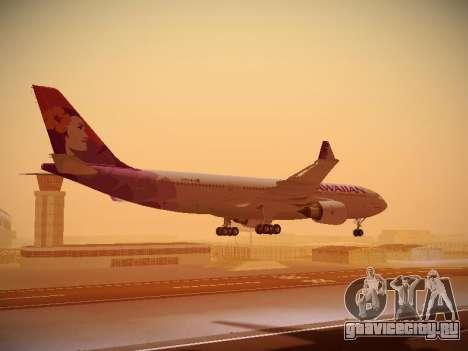 Airbus A330-200 Hawaiian Airlines для GTA San Andreas двигатель