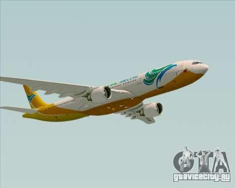 Airbus A330-300 Cebu Pacific Air для GTA San Andreas вид снизу