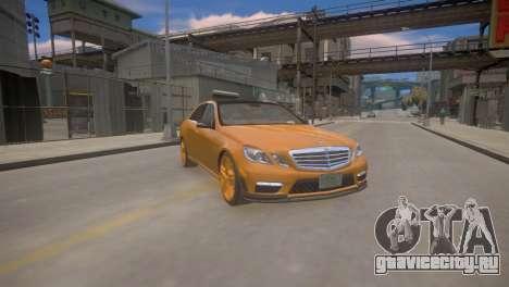 Mercedes-Benz E63 AMG для GTA 4 для GTA 4 вид сзади