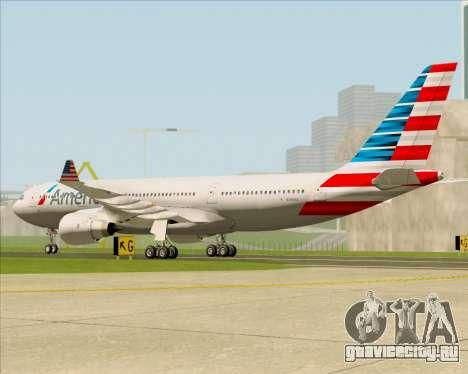 Airbus A330-200 American Airlines для GTA San Andreas вид справа