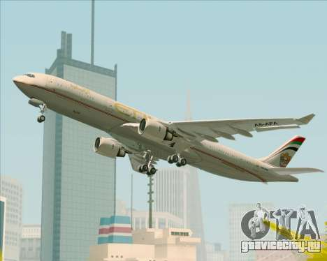 Airbus A330-300 Etihad Airways для GTA San Andreas колёса