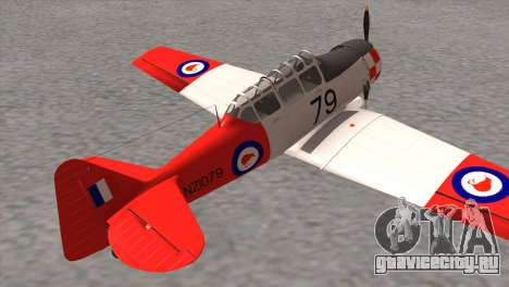 North American T-6 TEXAN NZ1079 для GTA San Andreas вид сзади слева