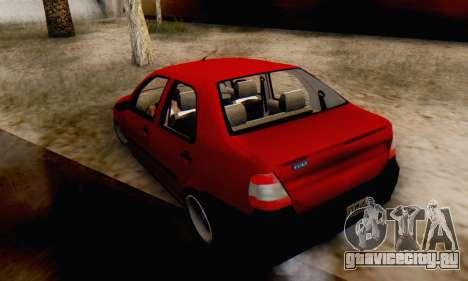 Fiat Siena 1998 для GTA San Andreas вид слева