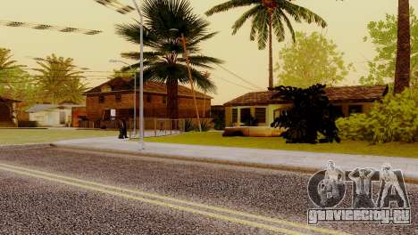 Новые текстуры домов на Гроув-стрит для GTA San Andreas четвёртый скриншот