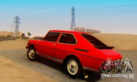 Saab 99 Turbo 1978 для GTA San Andreas вид слева