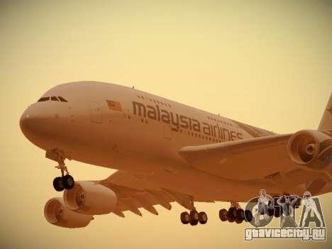 Airbus A380-800 Malaysia Airlines для GTA San Andreas вид слева