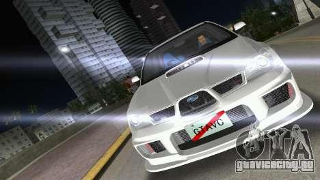 Subaru Impreza WRX STI 2006 Type 3 для GTA Vice City вид справа