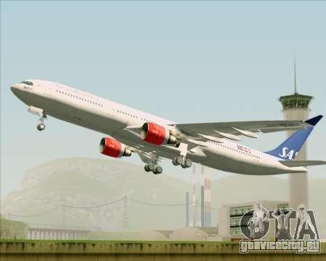 Airbus A330-300 Scandinavian Airlines System. для GTA San Andreas вид изнутри