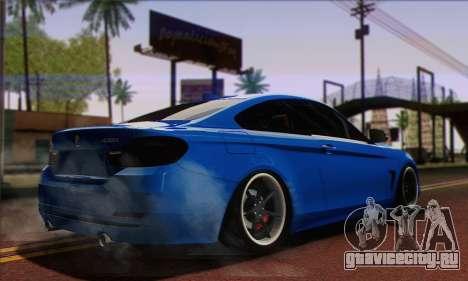 BMW 435i Stance для GTA San Andreas вид слева