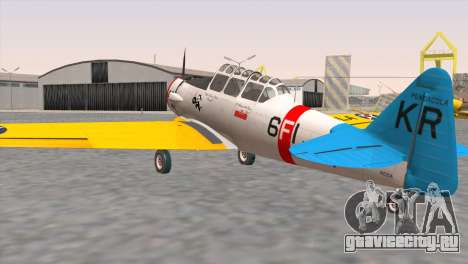 North American T-6 TEXAN N211A для GTA San Andreas вид слева