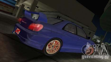 Subaru Impreza WRX 2002 Type 2 для GTA Vice City вид слева