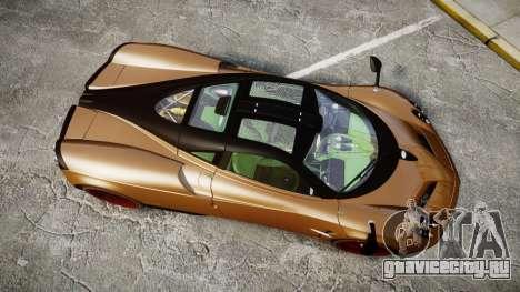 Pagani Huayra 2013 для GTA 4 вид справа