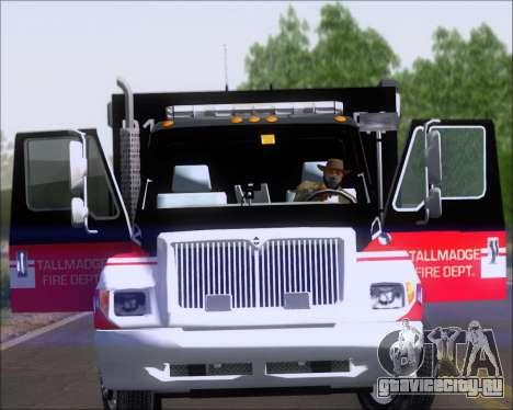 Pierce Commercial TFD Rescue 1 для GTA San Andreas вид справа