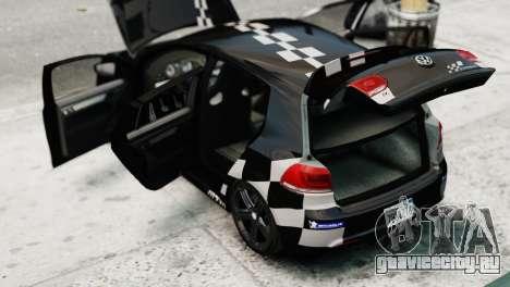 Volkswagen Golf R 2010 MTM Paintjob для GTA 4 вид сзади