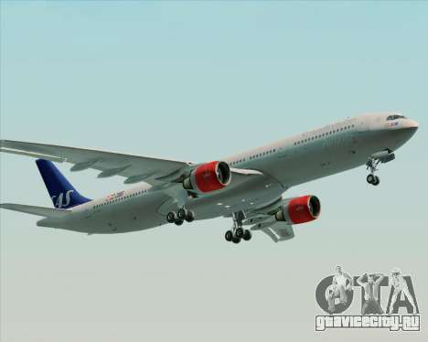 Airbus A330-300 Scandinavian Airlines System. для GTA San Andreas двигатель