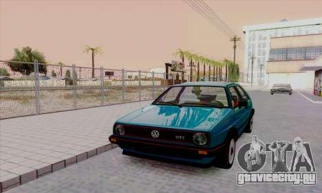 Volkswagen Golf 2 GTi для GTA San Andreas вид изнутри