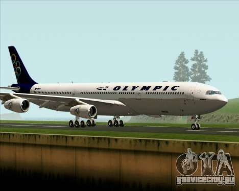 Airbus A340-313 Olympic Airlines для GTA San Andreas вид сзади слева