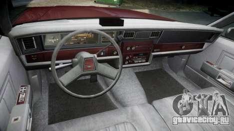Chevrolet Impala 1985 для GTA 4 вид сзади