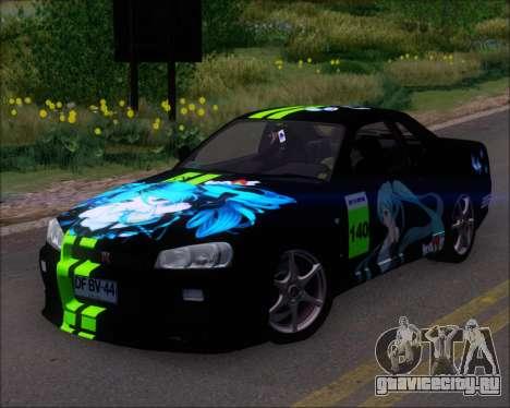 Nissan Skyline GT-R R34 V-Spec II для GTA San Andreas колёса