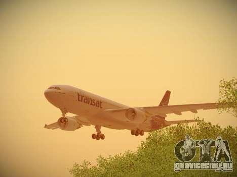 Airbus A330-200 Air Transat для GTA San Andreas двигатель