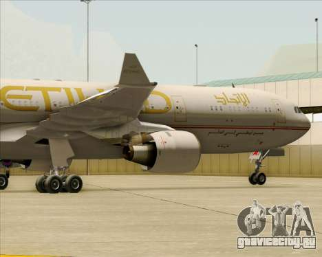 Airbus A330-300 Etihad Airways для GTA San Andreas вид сбоку