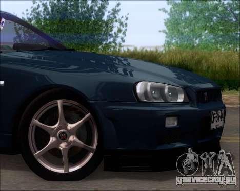 Nissan Skyline GT-R R34 V-Spec II для GTA San Andreas вид сбоку