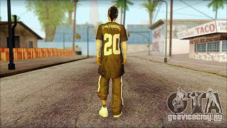 Afro - Seville Playaz Settlement Skin v4 для GTA San Andreas второй скриншот