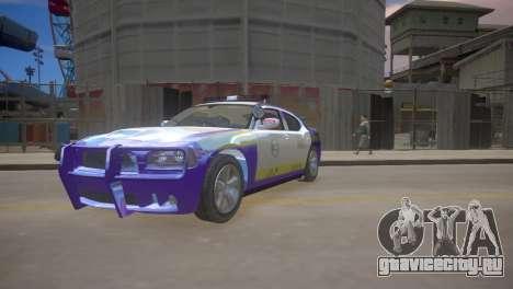 Dodge Charger Kuwait Police 2006 для GTA 4 вид слева