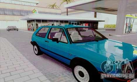Volkswagen Golf 2 GTi для GTA San Andreas вид сбоку
