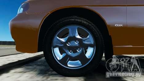 Daewoo Nubira I Wagon CDX US 1999 для GTA 4 вид изнутри