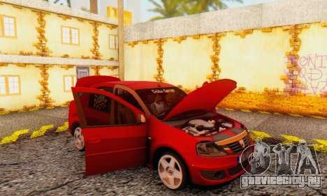 Dacia Logan Delta Garage для GTA San Andreas вид изнутри