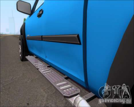 Chevrolet Colorado для GTA San Andreas вид изнутри