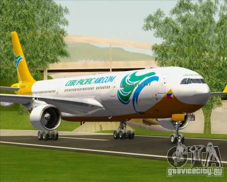 Airbus A330-300 Cebu Pacific Air для GTA San Andreas колёса