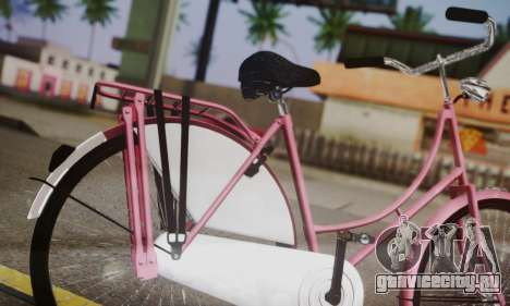 Амстердамский Велосипед для GTA San Andreas вид сзади слева