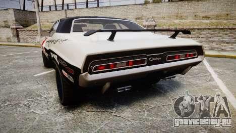 Dodge Challenger 1971 v2.2 PJ5 для GTA 4 вид сзади слева