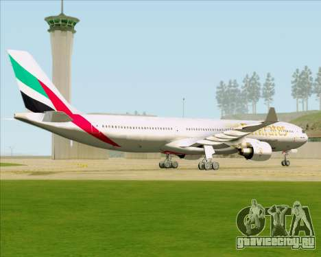 Airbus A330-300 Emirates для GTA San Andreas вид сзади